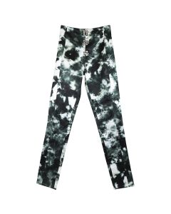 LĒO KOLOB/SATIN PANTS W.SWING HOOK / GREEN TIE-DYE