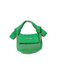 LASTFRAME TWO TONE OBI BAG / GREEN-NEON PINK