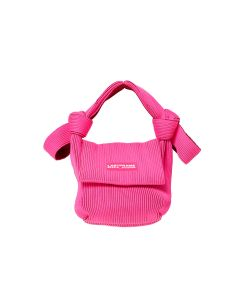 LASTFRAME TWO TONE OBI BAG / NEON PINK-BORDEAUX