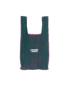 LASTFRAME TWO TONE MARKET BAG / DARK GREEN-NEON PINK