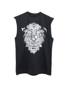 LIAM HODGES CYBER METAL SLEEVELESS / 155 : BLACK