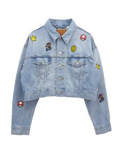 LEVI'S® X SUPER MARIO™ CROP DAD TRUCKER JACKET POWER UP / INDIGO