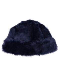 LANDLORD NEW YORK CAPSULE FUR BEANIE HAT / NAVY