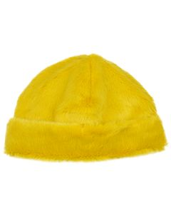 LANDLORD NEW YORK CAPSULE FUR BEANIE HAT / YELLOW MATCHA