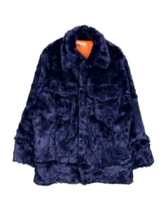 LANDLORD NEW YORK CAPSULE FUR DENIM JACKET / NAVY