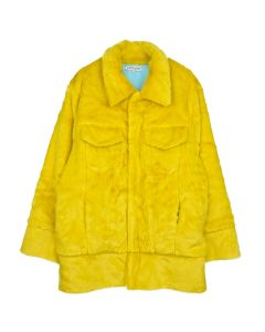 LANDLORD NEW YORK CAPSULE FUR DENIM JACKET / YELLOW MATCHA
