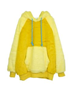 LANDLORD NEW YORK CAPSULE FUR HOODIE / YELLOW MATCHA