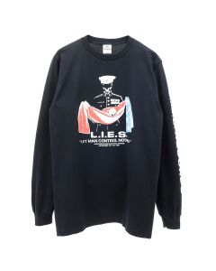 L.I.E.S. Records L.I.E.S. ABORTED MISSION LONG SLEEVE TEE / BLACK