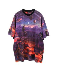 MARCELO BURLON ALLOVER FANTASY OVER T-SHIRT / 8801 : MULTICOLOR WHT