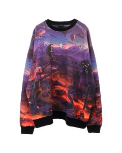 MARCELO BURLON ALLOVER FANTASY OVER CREWNECK / 8801 : MULTICOLOR WHT