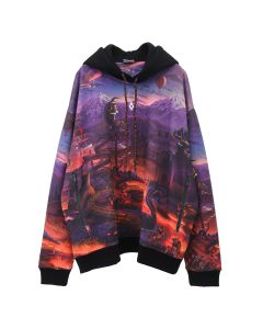 MARCELO BURLON ALLOVER FANTASY OVER HOODIE / 8801 : MULTICOLOR WHT
