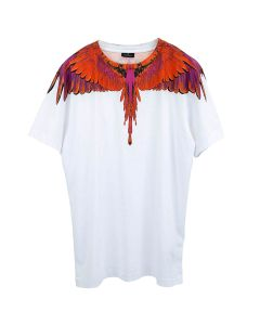 MARCELO BURLON RED WINGS T-SHIRT / 0125 : WHITE RED