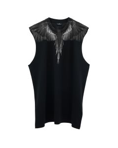 MARCELO BURLON BLACK WINGS TANK / 1010 : BLACK BLACK