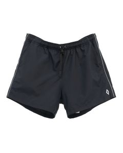 MARCELO BURLON PIPING SWIMMING SHORTS / 1001 : BLACK WHITE