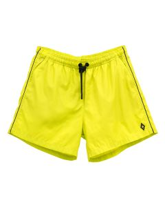 MARCELO BURLON PIPING SWIMMING SHORTS / 1510 : LIME BLACK