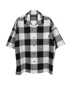 MASTERMIND WORLD SH006-005 / 001 : WHITE BASE (BLOCK PLAID)