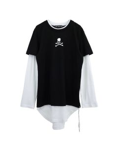 MASTERMIND WORLD TS039-900 / 001 : BLACK-WHITE(SMALL)