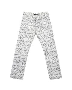 MISBHV THE TRIBAL DENIM TROUSERS / WHITE