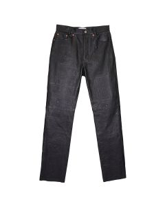 MAGLIANO LEATHER TROUSERS / 001 : BLACK