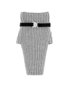 1017 ALYX 9SM NECK WARMER WITH METAL BUCKLE / GRY0001 : GREY