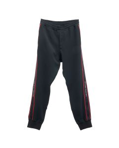 ALEXANDER McQUEEN LOGO TAPE JOGGER SINGLE CREPE / BLACK