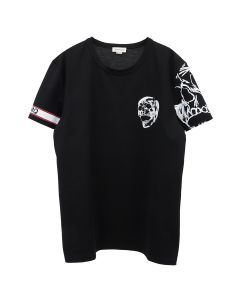 ALEXANDER McQUEEN T-SHIRT JAPANESE / BLACK-MIX