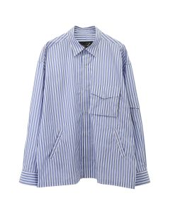 Martine Rose SHOCK CORD SHIRT / BLUE STRIPE