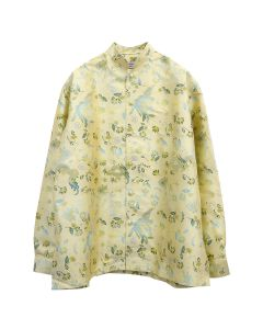 Martine Rose JACQUARD SHIRT W/MANDARIN COLLAR / GOLD BIRD