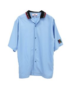 Martine Rose S/S SHIRT W/RIB COLLAR / BLUE