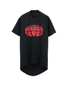 Martine Rose FRONT SEAM T-SHIRT / BLACK