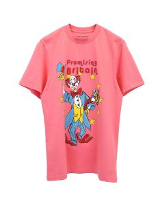 Martine Rose T-SHIRT W/CLOWN ARTWORK / PEACH