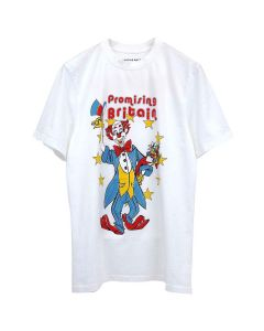 Martine Rose T-SHIRT W/CLOWN ARTWORK / WHITE