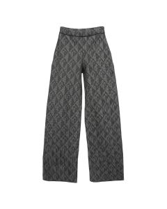 MARINE SERRE OPTICAL KNIT JACQUARD LOUNGE PANTS / 00 : BLACK