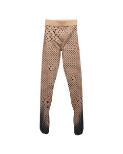 MARINE SERRE PRINTED LEGGINGS WITH COVERED FEET / 09 : TAN WITH PRINT