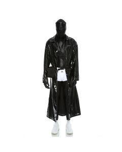 MARINE SERRE RAINCOAT / 06 : BLK SHINY