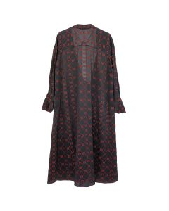 MARINE SERRE DJELLABA FLOU DRESS / 05 : BLACK JACQUARD