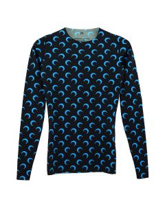 MARINE SERRE JERSEY TOP / 12 : ALL OVER MOON BLUE