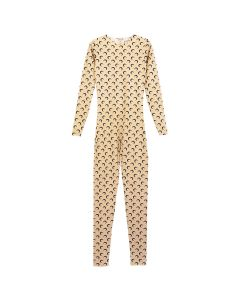 MARINE SERRE JERSEY CATSUIT / 71 : ALL OVER MOON TAN