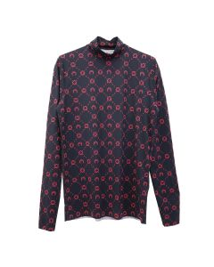 MARINE SERRE TURTLENECK TOP / 04 : BLACK PRINT