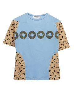 MARINE SERRE MOON INTERVENED T-SHIRT 2 / 10 : BLUE