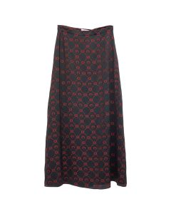 MARINE SERRE SILK WRAP LONG SKIRT / 05 : BLACK JACQUARD