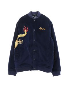 maharishi GOLDEN SUN DRAGON STADIUM JACKET / NAVY-GOLD