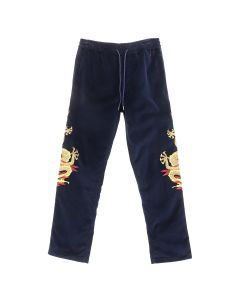 maharishi GOLDEN SUN DRAGON TRACKPANTS / NAVY-GOLD
