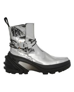 1017 ALYX 9SM LOW BUCKLE BOOT WITH FIXED SOLE / GRY0002 : SILVER