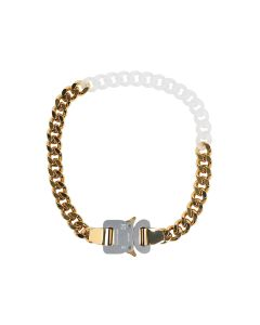 1017 ALYX 9SM METAL AND NYLON CHAIN NECKLACE / MTY0001 : GOLD SHINY-TRANSPARENT