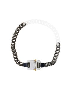 1017 ALYX 9SM METAL AND NYLON CHAIN NECKLACE / MTY0001 : SILVER-TRANSPARENT