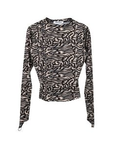 MAISIE WILEN CREWNECK TOP / BLACK-BEIGE