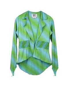 MAISIE WILEN BLAZER / GREEN-BLUE
