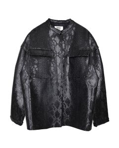 MAISIE WILEN JACKET / BLACK SNAKE