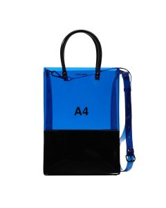 nana-nana PVC x OPAQUE A4 BAG / BLUE-BLACK